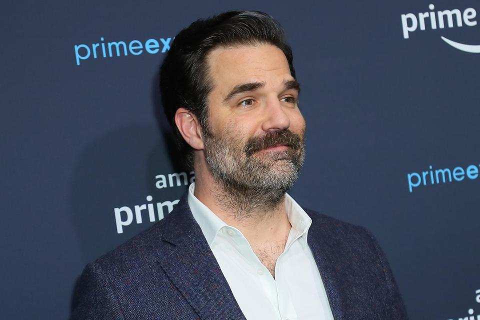 "HOLLYWOOD, CALIFORNIA - APRIL 18: Rob Delaney attends a ""Catastrophe"" FYC screening and panel hosted by Amazon Prime Experience at Hollywood Athletic Club on April 18, 2019 in Hollywood, California. (Photo by Leon Bennett/Getty Images)"