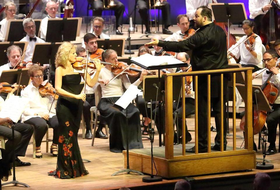7.6.19 Violinist Anne-Sophie Mutter with the BSO and Music Director Andris Nelsons performing Andre Previn's Violin Concerto