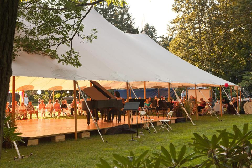 Duxbury Music Festival faculty and students will perform in the iconic tent on the Town Green on Sunday, July 21.