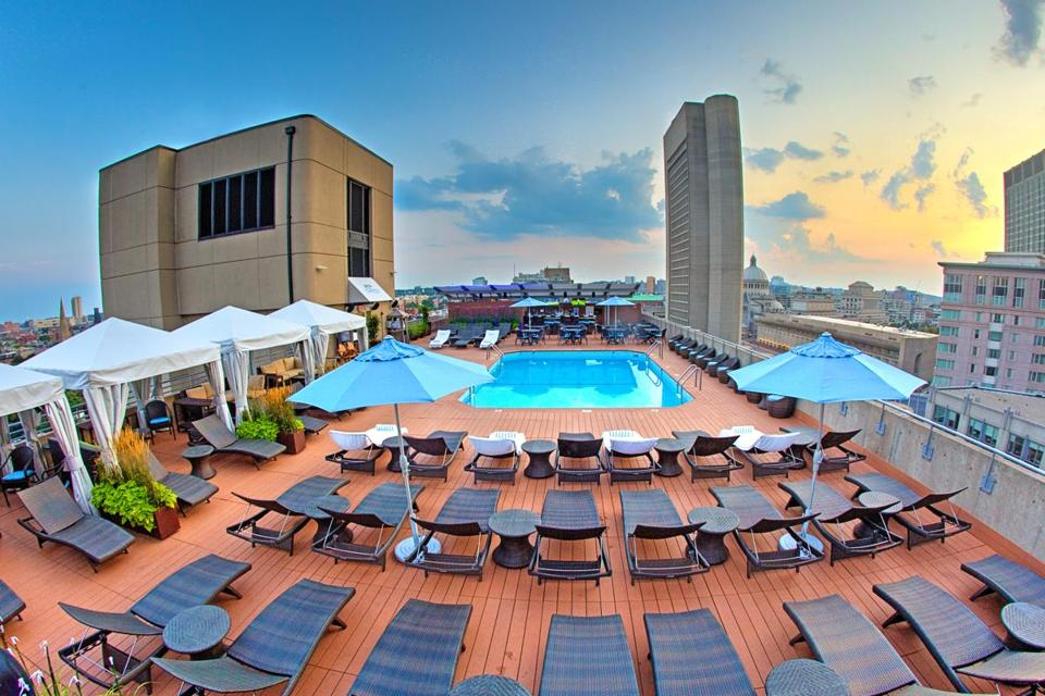The Colonnade Hotel Rooftop Pool is first-come, first-serve.