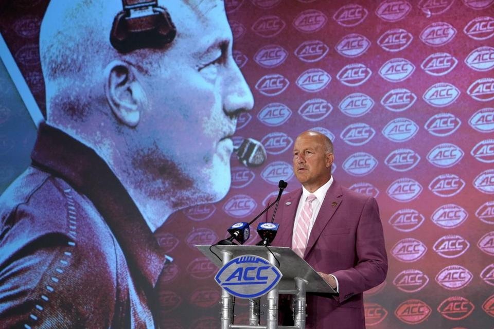 BC football coach Steve Addazio told reporters during the Atlantic Coast Conference media day Wednesday in Charlotte the Eagles were prepared to take the next step up: a championship.