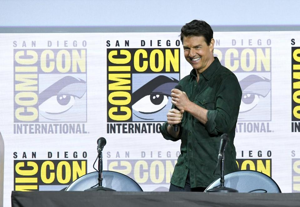 Tom Cruise spoke Thursday during an appearance at Comic-Con.
