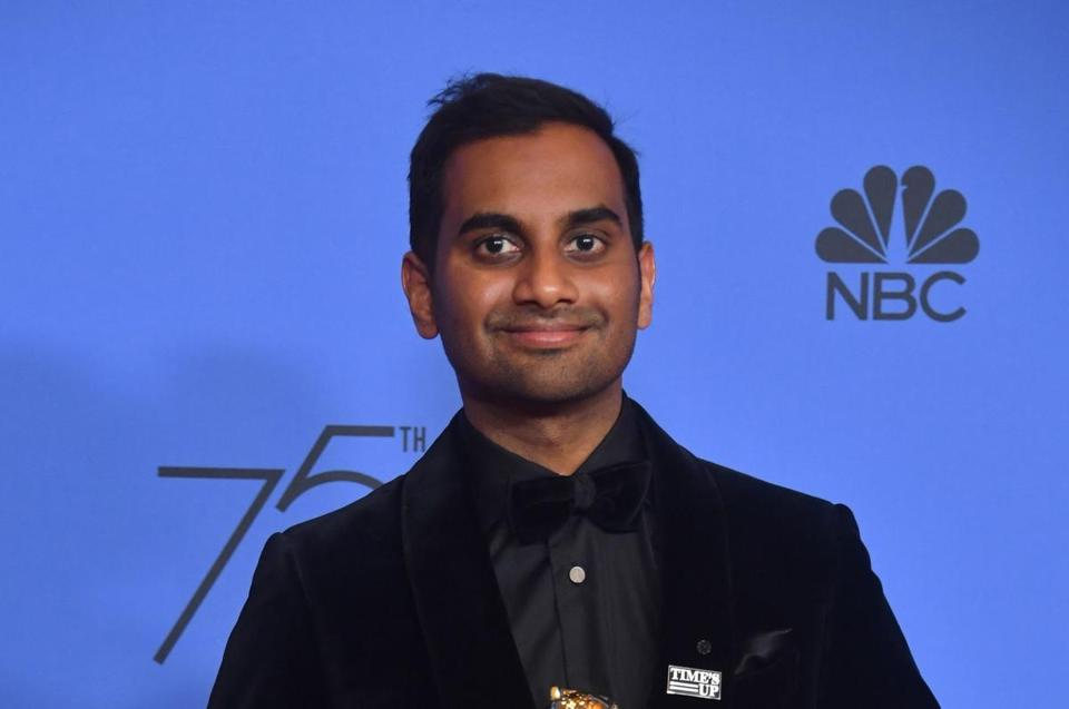 Aziz Ansari at the 2018 Golden Globe Awards.