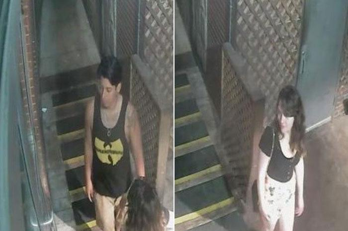 Boston police say they are seeking these two people in connection with a fire early Saturday on Hanover Street in the North End.