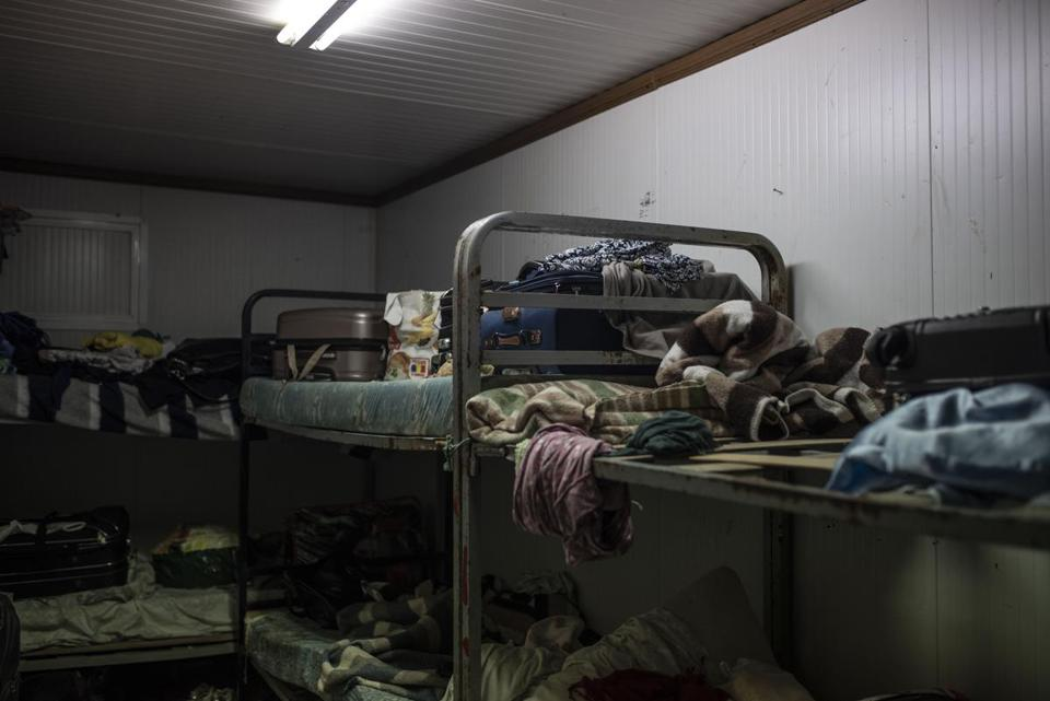 Some of the women are sharing this bedroom in Almonte, Spain, while they are stranded in the country awaiting trial.