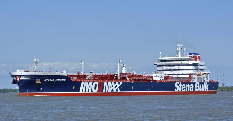 The British-flagged oil tanker Stena Impero was seized by Iran on Friday.