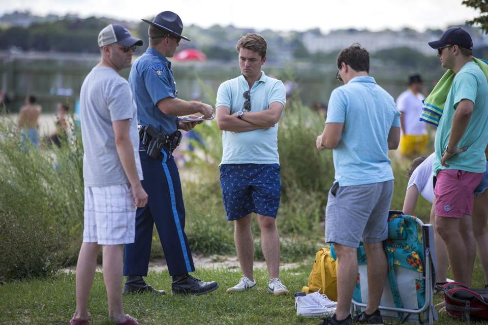 Prompted by complaints, State Police have cracked down on drinking at M Street Beach in South Boston.