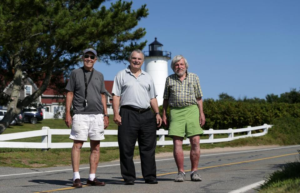 From left: Don Delinks, Ron Pokraka, and Mike Bennett are three of the Falmouth Five.