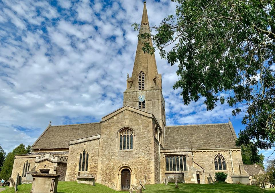 "St. Mary's church in Bampton, England. The church is used in the TV show and movie ""Downton Abbey."""