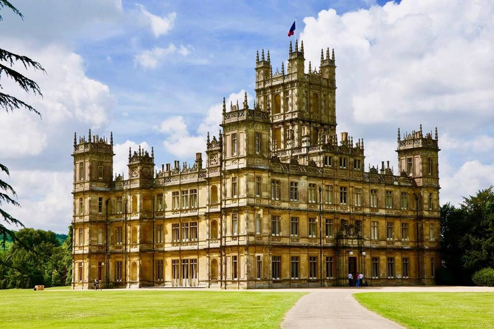 "Highclere Castle in Hampshire, England, is the location used for filming ""DowntonAbbey."""