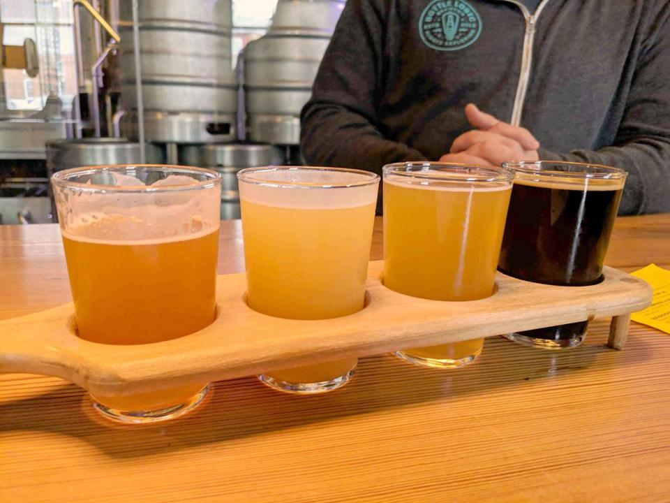 Bright Ideas Brewing flights include four generous pours.