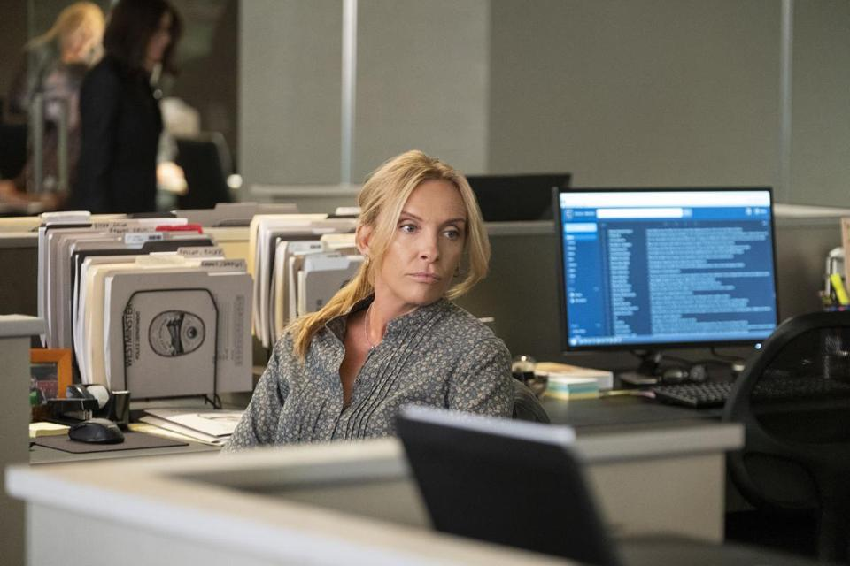 "Toni Collette stars as a cop in the Netflix series ""Unbelievable."""