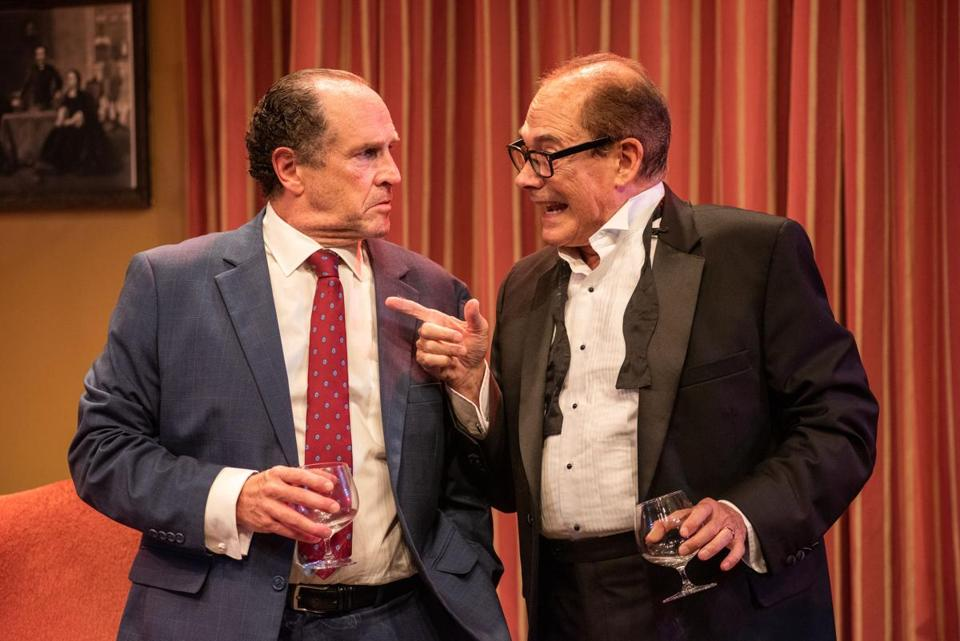 25nixon - Joel Colodner as Henry Kissinger and Jeremiah Kissel as Richard Nixon in Russell Lees' NIXON'S NIXON. (Andrew Brilliant/Brilliant Pictures)