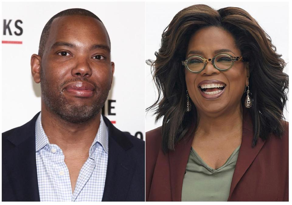 "Author Ta-Nehisi (left) and Oprah Winfrey. Winfrey has selected Ta-Nehisi Coates' novel ""The Water Dancer"" as her next book club pick."