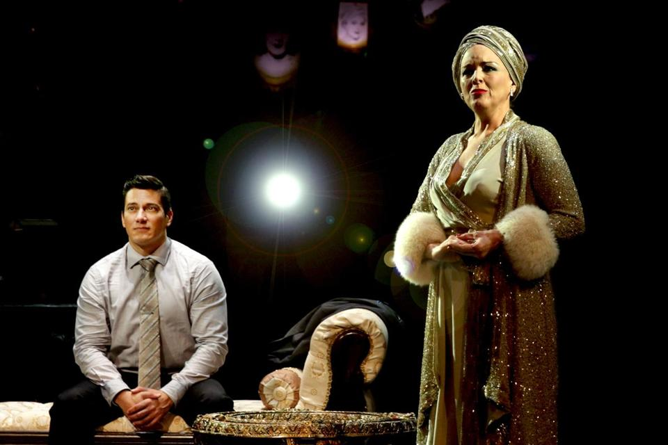 "Nicholas Rodriguez (Joe Gillis) and Alice Ripley (Norma Desmond) in ""Sunset Boulevard"" at North Shore Music Theatre."