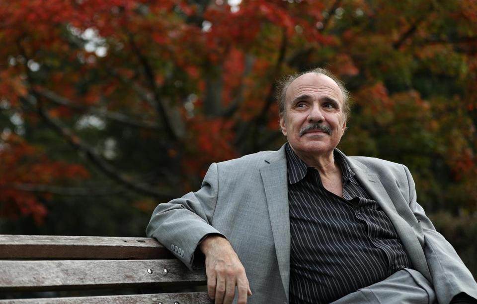 Boston, MA 10/1/19 Spiro Veloudos (cq) retired from the Lyric Stage Company. He is photographed in the Boston Public Garden. Photo by Pat Greenhouse/Globe Staff Topic: 04Spiro Reporter: Don Aucoin