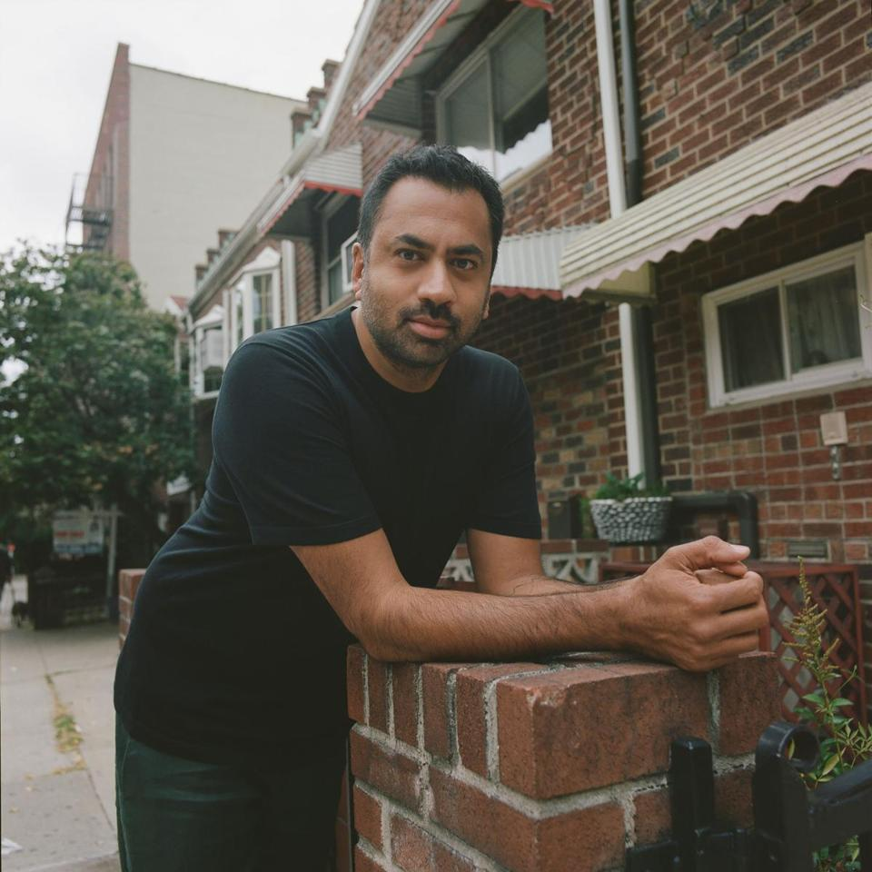 "Kal Penn in Sunnyside, Queens, where the NBC sitcom ""Sunnyside"" takes place."