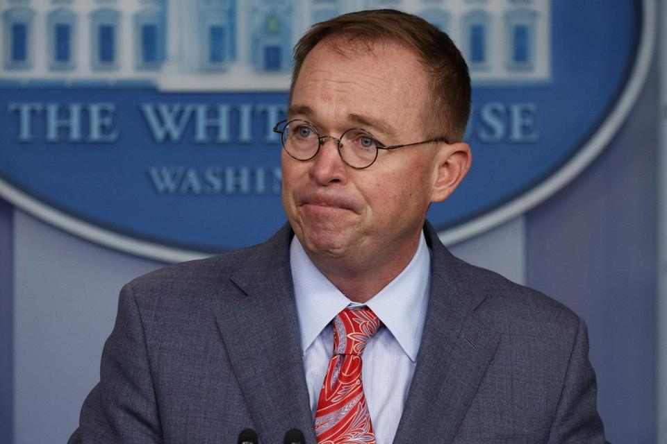 "White House chief of staff Mick Mulvaney's defense of President Trump's relationship with Ukraine was called ""problematic"" in at least one news headline."