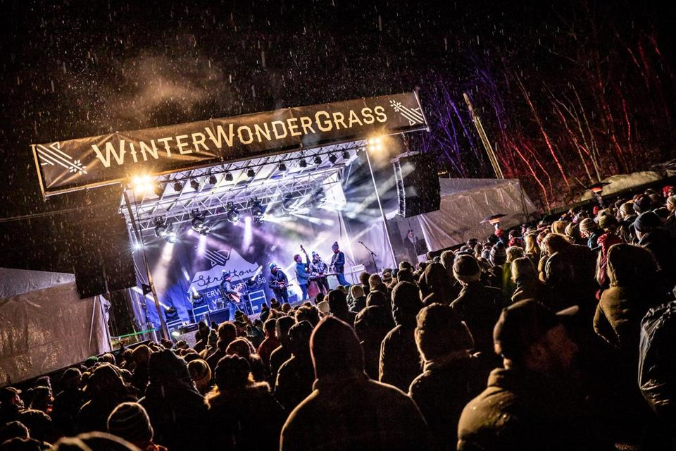 The WinterWonderGrass festival  at Stratton Mountain Resort.