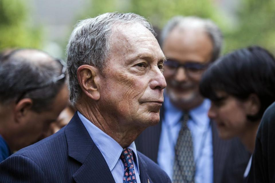 Former mayor Michael Bloomberg.