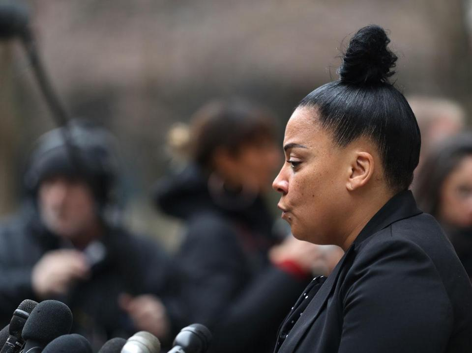 Suffolk District Attorney Rachael Rollins spoke Friday after Inyoung You's arraignment.