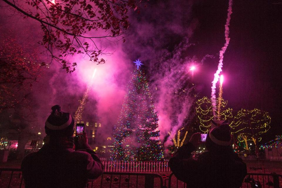 The tree lighting on Boston Common takes place December 5.