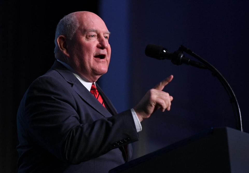 """Government dependency has never been the American dream,"" says Sonny Perdue (above), the agriculture secretary."