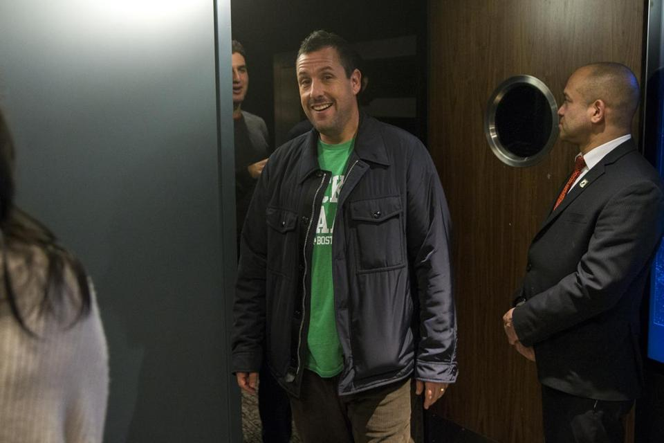 "Adam Sandler was in Boston on Sunday for a screening for his new film ""Uncut Gems."" Sandler also was featured Sunday on ""60 Minutes."""