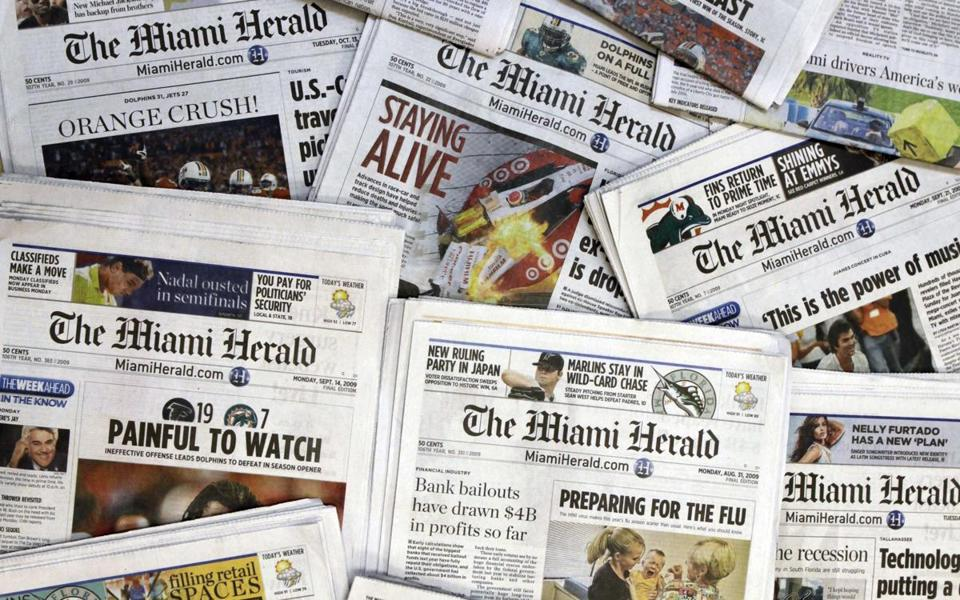 The publisher of the Miami Herald, Kansas City Star, and other regional dailies has been saddled with debt since its $4.5 billion takeover of a much bigger rival, Knight Ridder, in 2006.