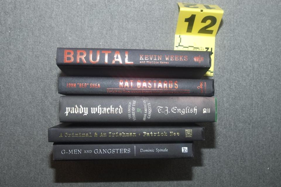 "Books were among items seized when police arrested James ""Whitey"" Bulger in Santa Monica, Calif."