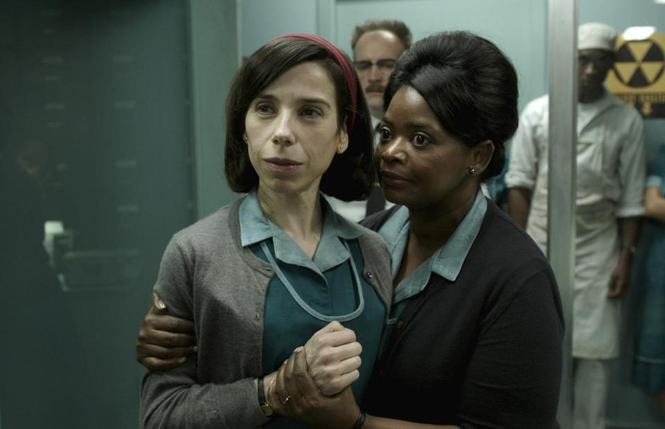 "Sally Hawkins, left, and Octavia Spencer in a scene from the film ""The Shape of Water."""