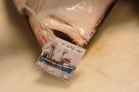 Diners who order fish iat 606 Congressare then given cards with an ID number and a QR code, which allows them to see where their dinner was caught -- and the species of fish.