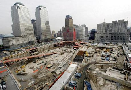 The former site of the World Trade Center, known as 'ground zero