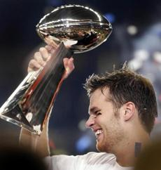 Just 26, Brady found himself on the podium with the commissioner for the second time in his four-year career.