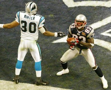 The scoring began in the second quarter when Deion Branch corralled a 5-yard touchdown pass from Brady.