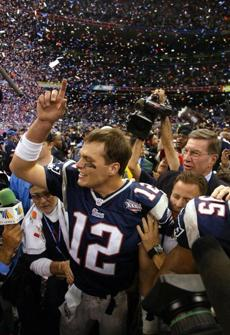 Brady was named Super Bowl MVP after his 16-for-27 passing performance with one touchdown pass.