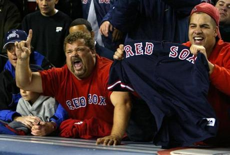 The victory delighted Red Sox fans in Yankee Stadium after years of seeing the New York club dominate its Boston rivals.