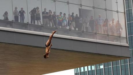 ICA visitors watched as the divers prepared for this Saturday's competition.