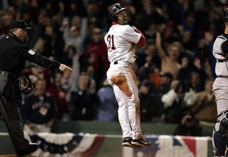 Roberts would then score the tying run on a hit by Mueller to send the game to extra innings. A walk-off home run by Ortiz in the 12th inning gave the Red Sox a 6-4 win.