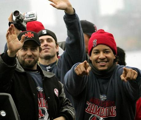 The Red Sox players, such as Kevin Millar, Doug Mientkiewicz and Ramirez, were thrilled by their reception from the fans.
