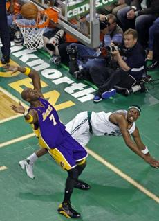 In the third quarter, Pierce sailed out of bounds but watched his shot drop.