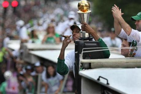 Pierce and the Celtics won Boston's sixth pro championship since 2002.