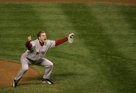 Papelbon was on the mound as the Red Sox closed out the Rockies to claim their second World Series title since 2004.