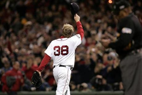 Curt Schilling earned the win in Game 2 after throwing 5 1/3 innings and surrendering just four hits.