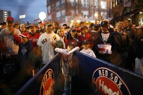 For the second time in four years, fans arrived at Fenway Park for Game 1 of the World Series.