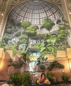 THE ATRIUM AT 101 MERRIMAC ST.    - A trompe l'oeil jungle offers a feast for the eyes for those who stop in.