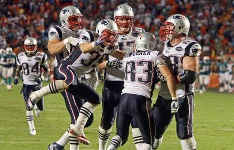 The win marked the ninth straight regular-season game in which the Patriots scored at least 30 points.
