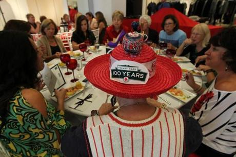 Red Sox fans attended a luncheon and fashion show put on by wives and girlfriends of  the team's players and staff  at Saks Fifth Avenue in the Prudential Center.