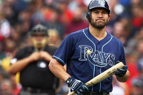 Johnny Damon, Tampa Bay Rays pinch hitter, after striking out         against Red Sox reliever Daniel Bard at Fenway Park, Aug. 16,         2011 --