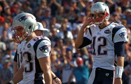 Tom Brady and the Patriots suffered their first loss of the season in a 34-31 decision at Buffalo yesterday.